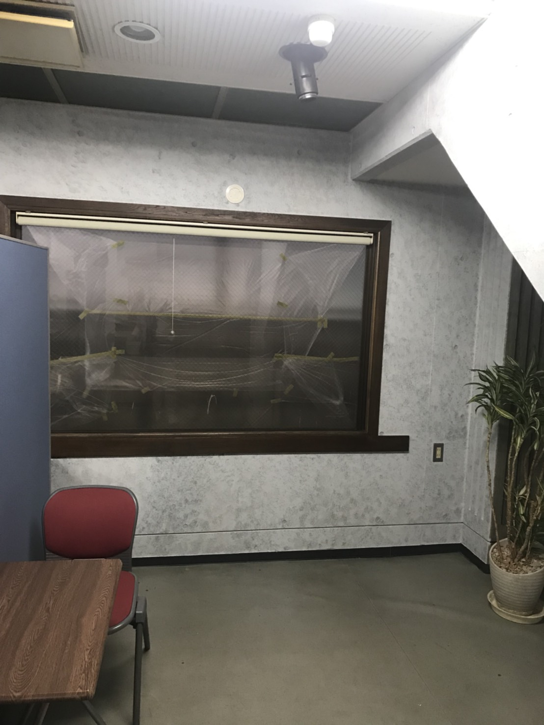 内部打ち放し塗装工事